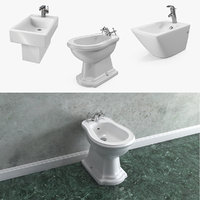 bathroom bidets 3D model