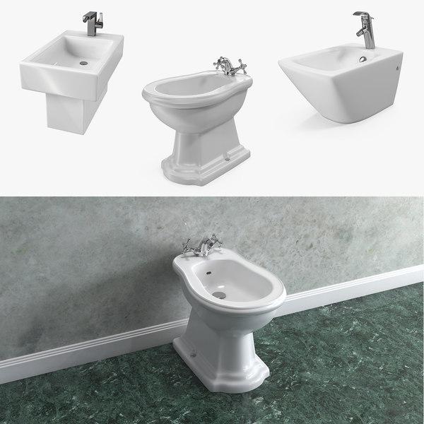 bathroom bidets 3D model