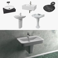 3D bathroom sinks model