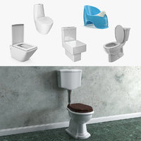 3D bathroom toilets model