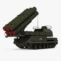 Buk Missile System SA11 Gadfly Rigged 3D Model