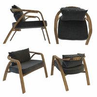 3D model armchair chair grillo