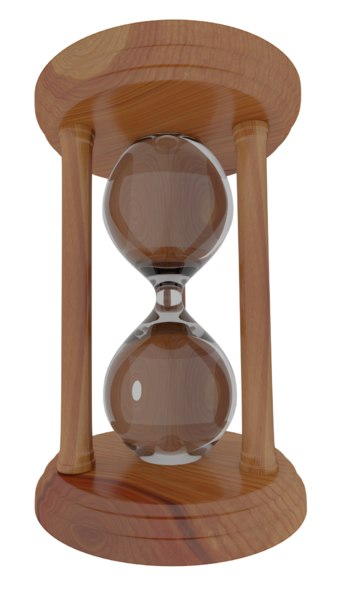 hourglass glass 3D model