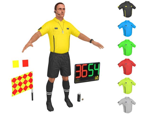 3D soccer referee 3 model