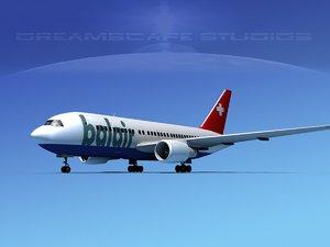 3D airline boeing 767 767-200er
