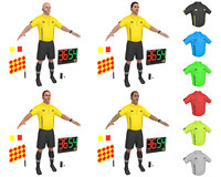 3D pack soccer referee model