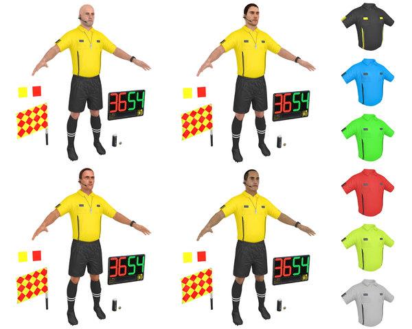 3D pack soccer referee model