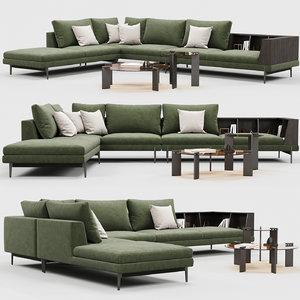 3D ditreitalia kim sofa model
