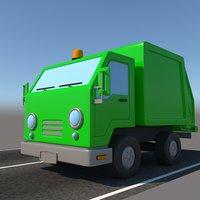 Toon Garbage Truck