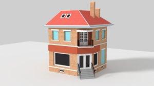 3D model paris house shop