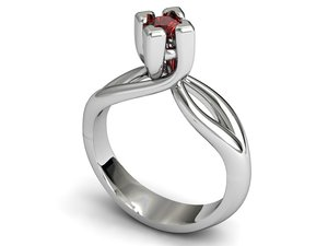 solitaire jewellery 3D