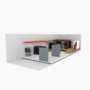 server room 3D model