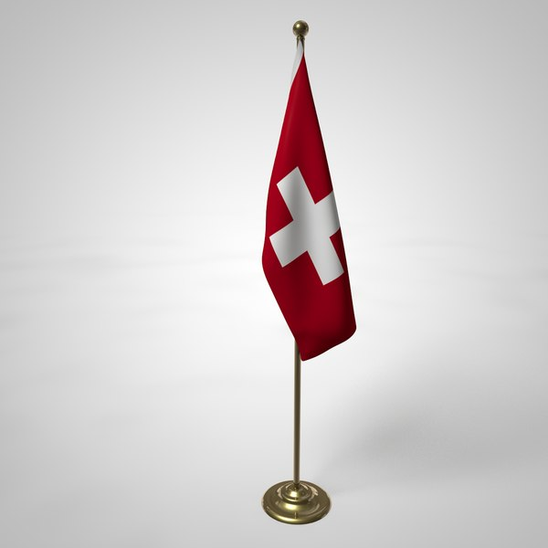 3D swiss flag pole