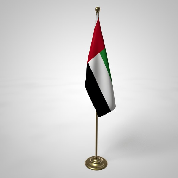 united arab emirates flag pole 3D