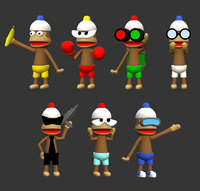 Ape Escape Monkeys 3DPrint