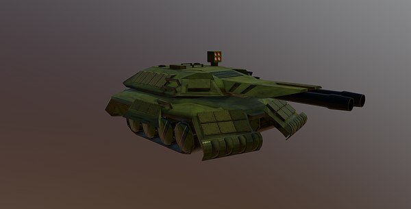 3D battle tank rigged