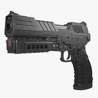 3D sci-fi handgun