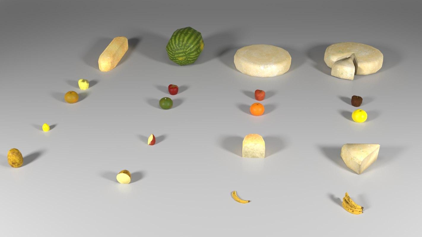 3D food pack marquis