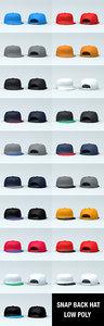 snap hat 19 colour 3D model