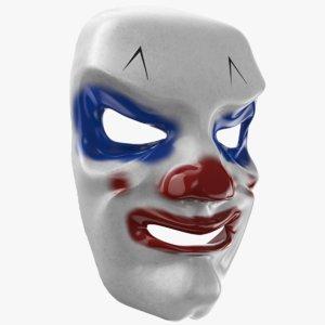 3D model modeled mask