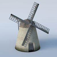 basic windmill 3D model