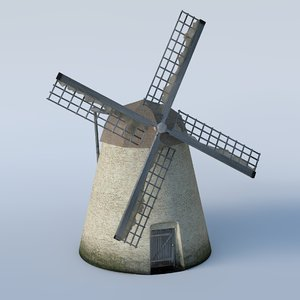 basic windmill 3D model
