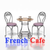 French Sidewalk Cafe Table with Chairs