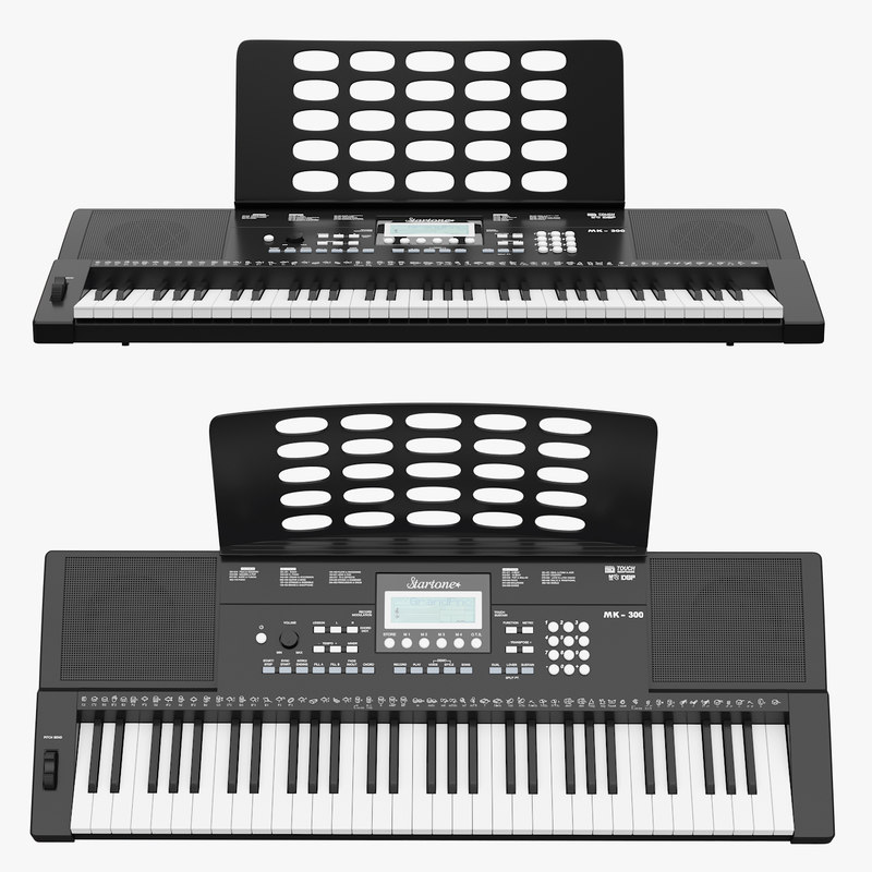 music instruments keyboard 3D