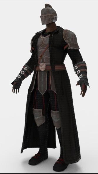 3D games character ar model