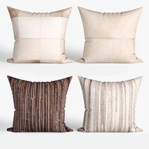 decorative pillows torino set 3D model