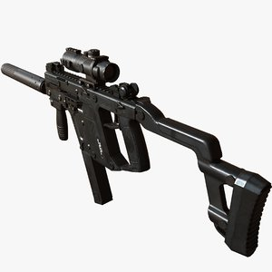 kriss pbr silencer 3D model