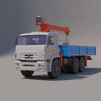 Load Handling Cranes - KMU Kanglim KS-1256 G2 on chassis KAMAZ-43118