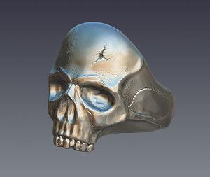 skull ring model
