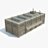 ready industrial building factory 3D model