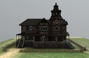 haunted house home 3D model