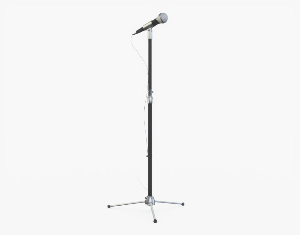 3D microphone stand mic model