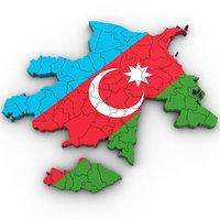 3D azerbaijan country