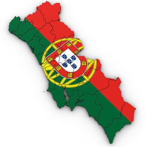 3D political portugal