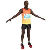 3D marathon runner model