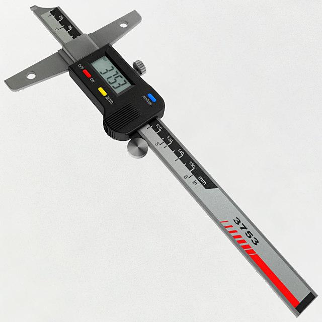 3D digital depth gauge