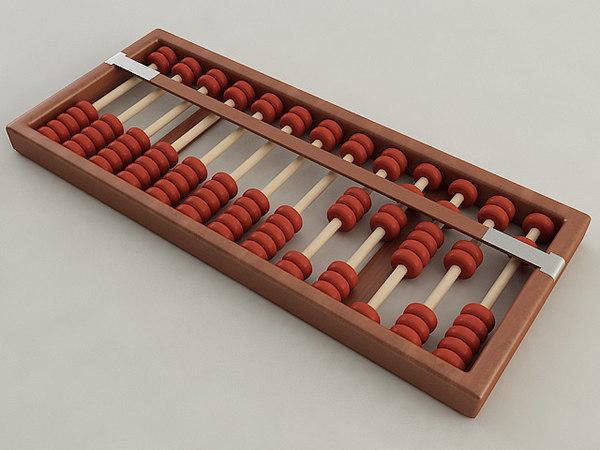 3D abacus model