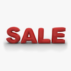 3D model sale text inflate