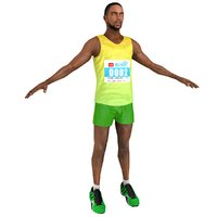 3D marathon runner 2