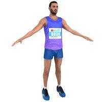 3D marathon runner