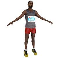 marathon runner 3D model