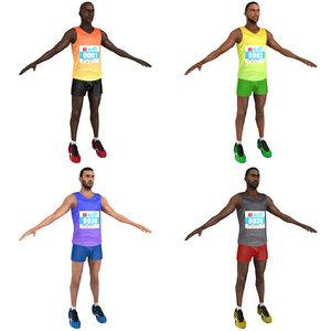 3D pack marathon runner