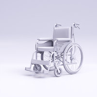 hight wheelchair 3D