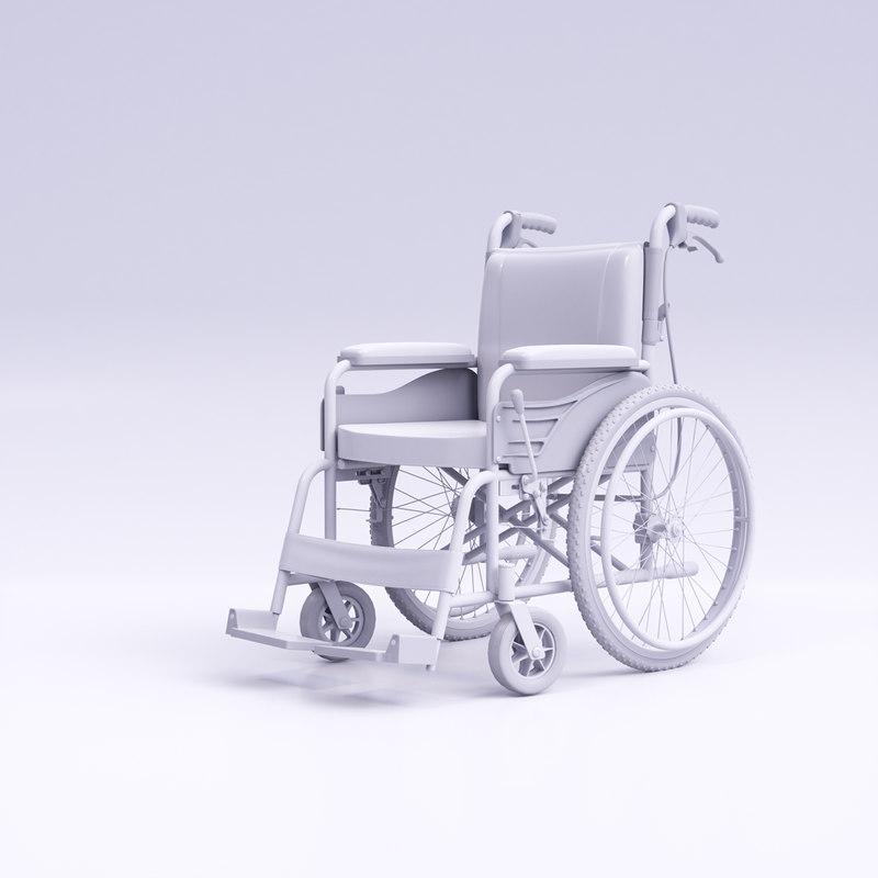 hight wheelchair 3D