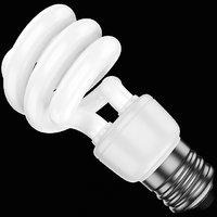 3D model compact fluorescent bulb 1