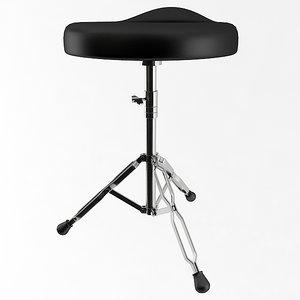 3D drum stool